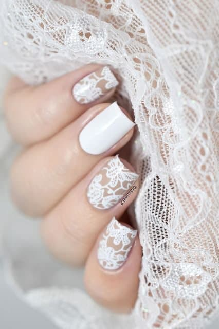 wedding nail polish designs - filagree