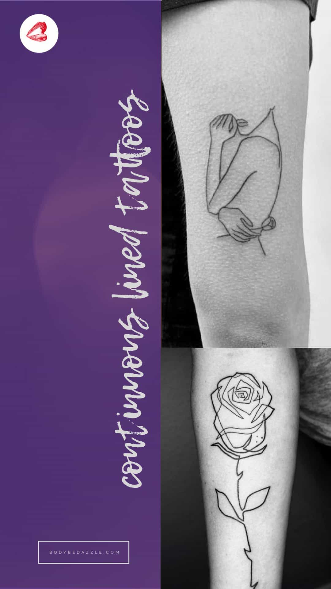 Continuous Line Tattoos (aka single-line tattoos) - a beautiful collection.