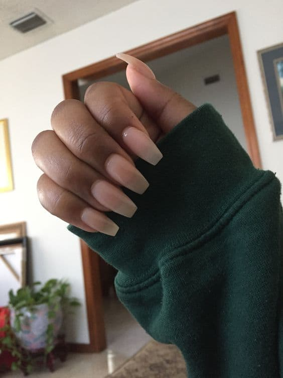 nude nails for dark skin